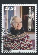 Groënland 2015, Timbre Oblitéré, 75 Ans De La Reine Margrethe - Greenland