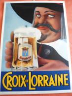 Publicité Bière CROIX DE LORRAINE En Carton épais - Alcohols