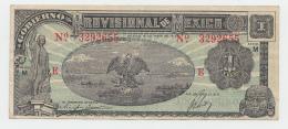Mexico 1 Peso 1916 VF+ Banknote P S709 - Mexico