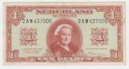 Netherlands 1 Gulden 1945 VF+ Pick 70 - [2] 1815-… : Koninkrijk Der Verenigde Nederlanden