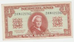 Netherlands 1 Gulden 1945 VF+ Pick 70 - [2] 1815-… : Kingdom Of The Netherlands