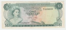 Bahamas 1 Dollar 1974 VF+ Crisp Banknote Pick 35a 35 A - Bahamas