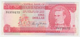 BARBADOS 1 DOLLAR 1973 VF++ Pick 29 - Barbados