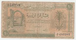 "Libya 10 Piastres 1951 ""F"" Condition Banknote Pick 6 - Libya"
