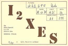Amateur Radio QSL Card - I2XES - Brescia, Italy - 1978 - Radio Amateur