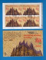 Italia ° -  1996 - Esposizione Mondiale  Di Filatelia. Libretto L.17 TIMBRATO,Milano Fiera.   Vedi Descrizione.   ( FR ) - 1946-.. République