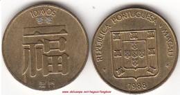 MACAO 10 AVOS 1988 (Portugese Colony) KM#20 - Used - Macao