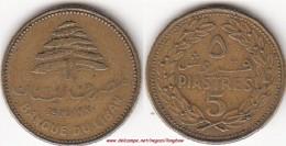 LIBANO 5 PIASTRES 1970 (wo Rosette Below Knot) KM#25.1 - Used - Libano