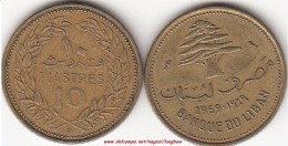 LIBANO 10 PIASTRES 1969 KM#26 - Used - Liban