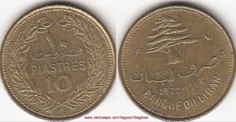 LIBANO 10 PIASTRES 1972 KM#26 - Used - Libano