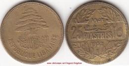 LIBANO 25 PIASTRES 1952 KM#16.1 - Used - Libanon