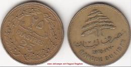 LIBANO 25 PIASTRES 1970 (old 25) KM#27.1 - Used - Liban
