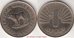 MACEDONIA 1 Denar (Yugoslavian Sheep Dog) KM#2 - Used - Macedonia
