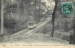 - Departs Div.-ref-HH366- Nord - Lille - Tramway Mongy - Passerelle Rue Des Guinguettes A La Gare - Tramways - - Lille