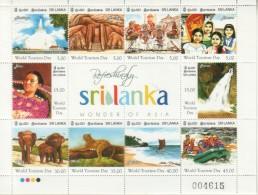 2011 Sri Lanka  World Tourism Day 2011 Miniature Sheet - Sri Lanka (Ceylan) (1948-...)