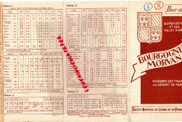 21 - 89-58-DIJON - DEPLIANT TOURISTIQUE BOURGOGNE MORVAN - 1939 SNCF -AUTUN-BEAUNE-CHAGNY-AVALLON-ALESIA-MACON-SENS - Tourism Brochures