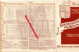 21 - 89-58-DIJON - DEPLIANT TOURISTIQUE BOURGOGNE MORVAN - 1939 SNCF -AUTUN-BEAUNE-CHAGNY-AVALLON-ALESIA-MACON-SENS - Dépliants Touristiques