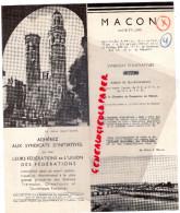 71 - MACON - DEPLIANT TOURISTIQUE 1939 - Dépliants Touristiques