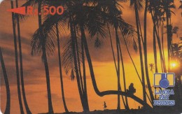 Sri Lanka, 2SRLD, Rs500, Palm Trees At Sunset (rev .letter B), 2 Scans.   Please Read - Sri Lanka (Ceylon)