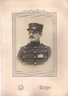 Grande Photo Originale Homme - Portrait D'un Soldat En Uniforme - Casquette N° 3 - Gendarme - Vers 1900 - Photo Midget - Anonyme Personen