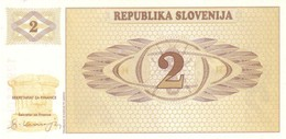 SLOVENIA 2 TOLARJEV ND (1990) P-2 UNC [ SL202a ] - Slovenia
