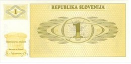 SLOVENIA 1 TOLAR ND (1990) P-1s UNC SPECIMEN [ SL201as1 ] - Slovénie