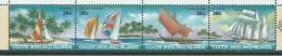 Cocos Keeling Island 1987 Ship & Sail Craft Strip Of 4 MNH - Cocos (Keeling) Islands