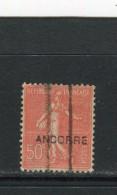 ANDORRE FRANCAIS - Y&T N° 15° - Type Semeuse Lignée - Oblitérés