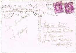 O.MEC KRAG CHAMPIONNAT DE FRANCE BOULISTE 1947 SUR CPSM CANNES - Marcophilie (Lettres)