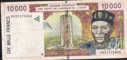 IVORY COST P114Ag 10.000 = 10000 FRANCS 1998 F-VF 4 P.h. ! - Côte D'Ivoire