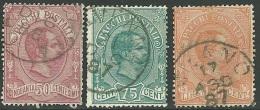 1884-86 - REGNO D´ITALIA - PACCHI - CENT. 50 - 75 - 1,25 - USATI - SIGNED  - SPL - EURO 76,00 - Pacchi Postali