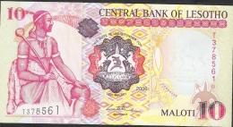 LESOTHO P15d  10 MALOTI  2006  #T  Signature 7 UNC. - Lesotho