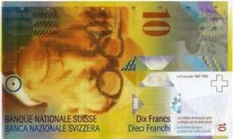 SWITZERLAND 10 FRANCS ND (1996) P-66b UNC PREFIX 96 RARE [ CH66b ] - Switzerland