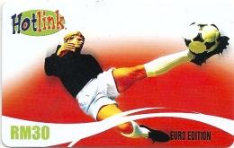 Malaysia - Hotlink - Euro Edition Football Soccer - GSM Refill 10RM, Exp. 05.2008, Used - Malaysia