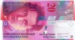 SWITZERLAND 20 FRANCS 2005 P-69d UNC SIGN. RAGGENBASS & HILDEBRAND [CH350f3] - Switzerland