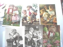 Mecki Lot 6 Postcards - Dieren