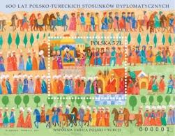 "Poland 2014 ""600 Years Of Turkish-Polish Diplomatic Relations"" MS Mishel MNH - Blocks & Kleinbögen"