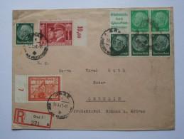 GERMANY 1941 REGISTERED EINSCHREIBEN COVER GRAZ TO CHRUDIM (BOHMEN UND MAHREN) MULTI-STAMPED - Allemagne