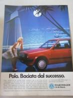 # ADVERTISING PUBBLICITA'  VOLKSWAGEN POLO BACIATA DAL SUCCESSO   -- 1988 -  OTTIMO - Werbung