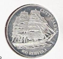 MALDIVES 100 RUFIYAA 1993 SILVER PROOF SHIP CUTTY SARK - Maldives