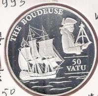 VANUATU 50 VATU 1993 SILVER PROOF KM16 THE BOUDEUSE - Vanuatu