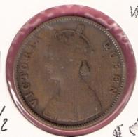 BRITISH INDIA 1/2 ANNA 1862 - India