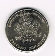 °°° DDR  HERDENKINGSMUNT FESTUNG KÖNIGSTEN RIESENFASS 2500 HL  1725 - Elongated Coins
