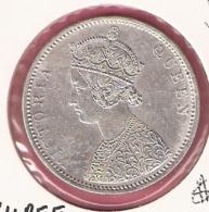 BRITISH INDIA RUPEE 1876 SILVER - Inde