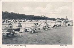 Kolberg Ko?obrzeg Baänke An Den Planken Seebrücke Ansichtskarte 1922 - Polen
