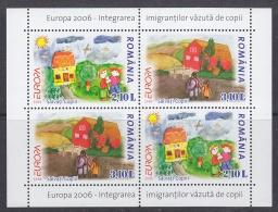 Europa Cept 2006 Romania M/s ** Mnh (31103) Promotion - 2006