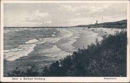 Kolberg Ko?obrzeg Partie Am Weststrand Pommern Pomorskie 1922 - Polen