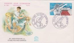 FDC - Roland Garros - 1978 - 50ème Anniversaire - 1970-1979