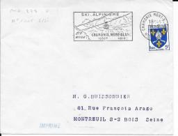 HAUTE SAVOIE - CHAMONIX MONT BLANC - FLAMME N° CHA 278 S - SKI ALPINISME / ... / ETE/ HIVER / 1500M 4810M - TP 1005 TARI - Postmark Collection (Covers)