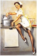 PIN UP - AMERICAN PIN UP (Illustration Gil ELVGREN USA 1948) : What's Cooking - CPM (Réédition 2000) Fab. Allemande TASC - Pin-Ups